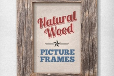 Isolated Natural Wood Picture Frames 1