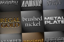 Photoshop Styles Metal Pack 1