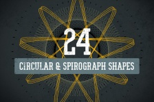 Circular and Spirograph Shapes Vector Pack 1