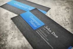 Realistic Business Card Mockup Template 1
